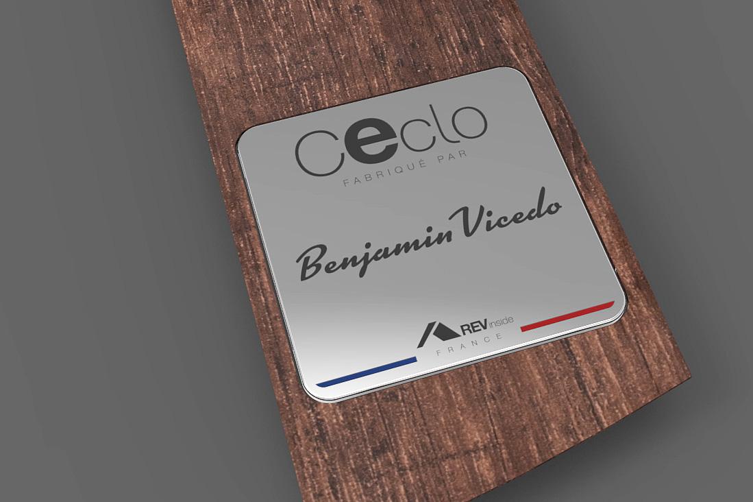 Impression sur aluminium / Plaque constructeur pour pédalos électriques / REV, Alès